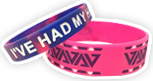Debossed Ink Filled Silicone Wristbands