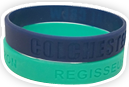 Debossed Only Silicone Wristbands