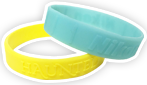 Embossed only Silicone Wristbands