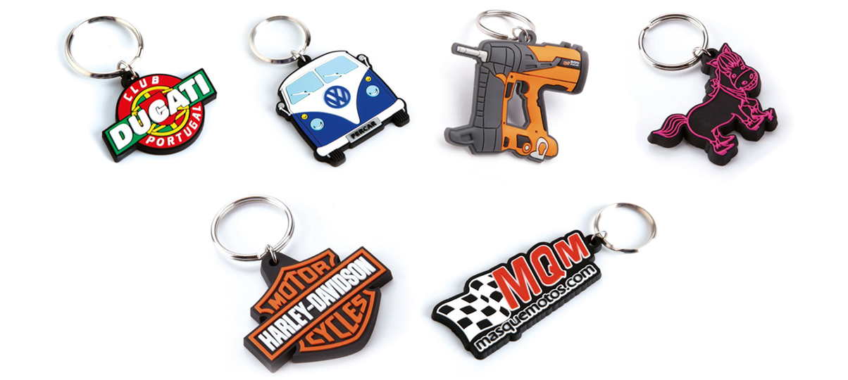 Rubber/PVC Keyrings