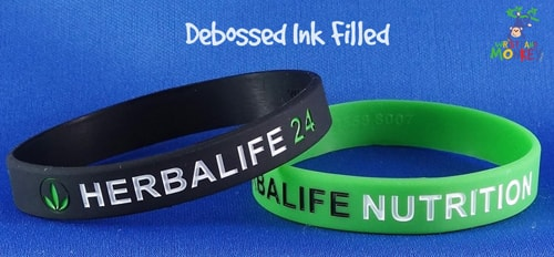 Debossed Ink Filled Bracelets