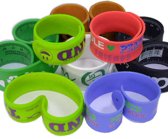 Cusotm Slap Ruler Wristbands