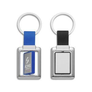 Rectangle Metal Spinner Key Ring Bulk Supplier