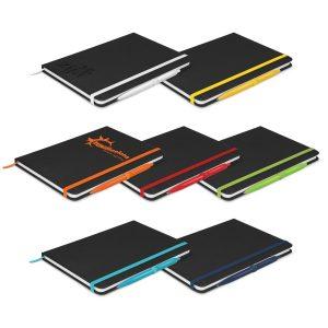 Omega Black Notebook with Pen Bulk Supplier
