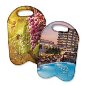 Neoprene Double Wine Cooler Bag - Full Colour Bulk Supplier