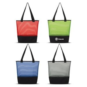 Sheer Mesh Pinstripe Tote Bag Bulk Supplier