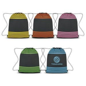 Striped Drawstring Sports Pack Bulk Supplier