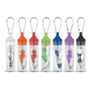 Ear Buds In Carabiner Case Bulk Supplier