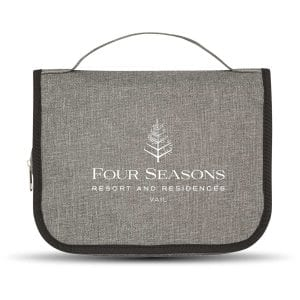 Heathered Hanging Toiletry Bag Bulk Supplier
