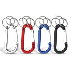 8mm Carabiner With Triple Split Ring Bulk Supplier