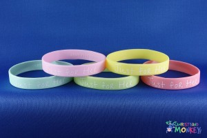 fundraising charity silicone wristband
